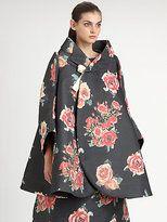 Comme des Garcons-comme des garcons floral jacquard coat