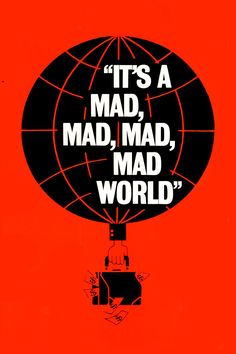 It's a Mad, Mad, Mad, Mad World Movie Poster - Spencer Tracy, Milton Berle, Sid Caesar  #SAMad, #MadWorld, #SpencerTracy, #MiltonBerle, #SidCaesar, #StanleyKramer, #Comedy, #Art, #Film, #Movie, #Poster