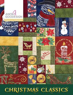 This beautiful Christmas Classics collection takes embroidery designs to a whole other level by using words to form the shapes of different holiday images. There are 25 different themed blocks that feature 25 Christmas carols and sayings. Using words to form the shapes of different holiday images created the designs. Blocks include all the quilting stitches for added beauty.