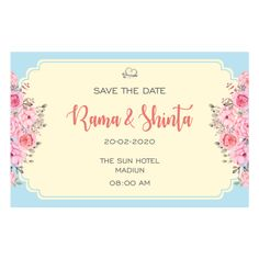 Roses, Shape, Wedding Card, Undangan, Card, Invitation