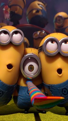 ↑↑TAP AND GET THE FREE APP! Anime & CartoonsFun Minions Funny Despicable Me Cute Yellow HD iPhone 6 Wallpaper
