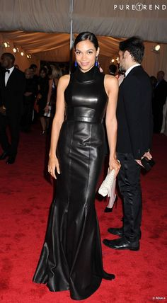 Long leather dress   ROSARIO DAWSON