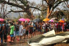 #TyphoonHaiyan  in the Philippines.