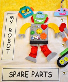 "Fun Fabrication: ""Robot Birthday Party"" - has link to the pattern"