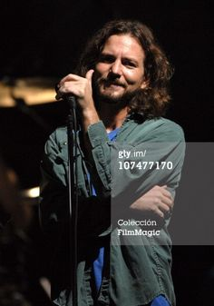 Eddie Vedder of Pearl Jam during 'VH1...oh, that little smile <3