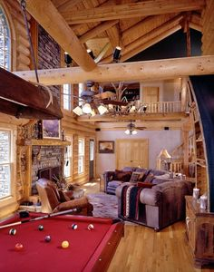 lodge-style man cave The Best Man Caves Out There! – 42 Pics