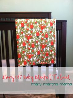 Super easy DIY baby blanket tutorial- how to make a baby blanket with 2 yards of fabric and a little bit of time
