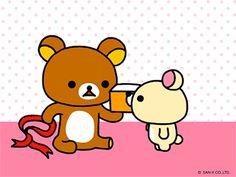 Rilakkuma Gifs — Made the gif; source animation here. Rilakkuma, Sanrio Characters, Disney Characters, Kawaii Cute, Kawaii Shop, Japon Tokyo, 1 Gif, Kawaii Wallpaper, Cute Bears