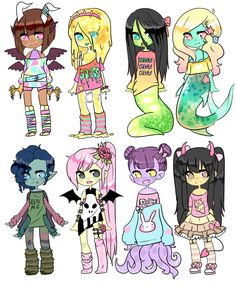 [CLOSED] Auction    Monster Girl Challenge 1 by Tenshilove.deviantart.com on @DeviantArt