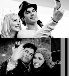 Candice Accola & Ian Somerhalder & Nina Dobrev - The Vampire Diaries