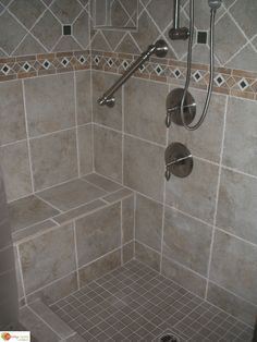 tiled shower stalls pictures   ... Accessories, Ready to tile Shower Pan, shower bench, Shower Seats