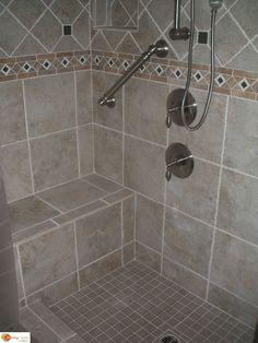 tiled shower stalls pictures   ... Accessories, Ready to tile Shower Pan, shower… Handicap Bathroom, Small Shower Remodel, Restroom Remodel, Walk In Shower, Bathroom Interior Design, Rental Bathroom, Dyi Bathroom, Basement Bathroom, Bathroom Remodeling