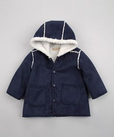 Take a look at this Navy Blue Hooded Jacket - Infant by Luca Charles on #zulily today!