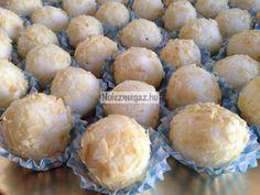 Gyors kókuszos golyók Muffin, Goodies, Cheese, Baking, Breakfast, Food, Sweet Like Candy, Bread Making, Morning Coffee