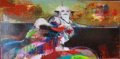 La plaine aux vents,  Mixte,    24 x 48 Dominic Besner 2009 (54)