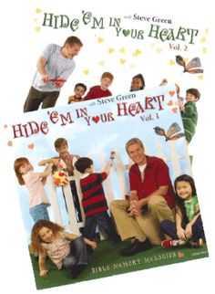 Hide 'Em in Your Heart, Two-CD Set - 00060 Scriptures set to music to help them memorize.