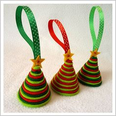 Items similar to One Felt Christmas Tree on Etsy
