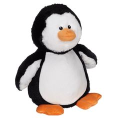 Embroider Buddy - Penguin Buddy These adorable animals are a wonderful gift idea that can be personalized with embroidery on the belly area. Many animals to choose from. A perfect baby shower, birthday, wedding, or anytime gift for that special someone.