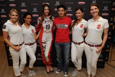IZOD IndyCar Series Driver Ho-Pin Tung appears at the IZOD Autograph session at Macy's Union Square.