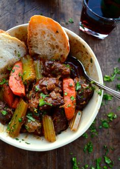 BEEF STEW W/ LEMON PARSLEY GREMOLATA by thewoksoflife.com, This #BeefStew is full of herbs, red wine, and veggies. Enjoy this all time favorite.