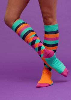 I love fun socks, soft socks, long socks, socks in general...hahaha
