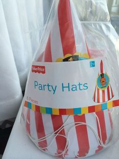 Fisher Price First Birthday Circus Theme Party Hats