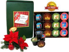 Coffee Gift Baskets - Holiday Gift Variety Pack of 12 K-cups of Pure Kona and Kona Hawaiian Coffee giving your gift recipient the opportunity to enjoy tasting a variety of our fine coffee selections. Coffee Gift Baskets, Holiday Gift Baskets, Holiday Gifts, Holiday Decor, Hawaiian Coffee, K Cups, Christmas Holidays, Opportunity, Packing