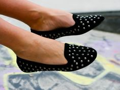 studded loafers, I saw so many of this type of loafer in NYC over the weekend! 02.18.2012