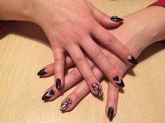 Nails, nail art, nail design, black nails, 2017 nails