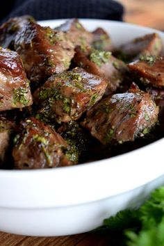 Roasted Herbed Beef Tips by Lord Byron's Kitchen