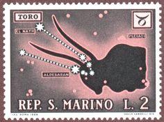 AstroSpirit / Taurus ♉ / Earth / The Bull / Stamp 1969