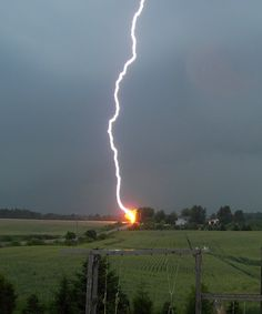 Lightning - Positive and negative ions bouncing around in the atmosphere; When they collide, they create an electrical discharge that we see as lightning; These natural light shows are as hot as the surface of the sun and can destroy anything they hit.