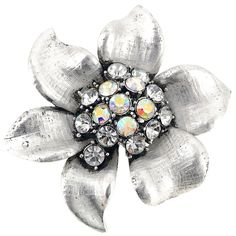 Crystal Flower Pin Brooch - Overstock Shopping - Big Discounts on Brooches & Pins