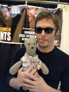 Norman Reedus - I'm always stunned by his eyes and smile. Plus that teddy bear is adorable.