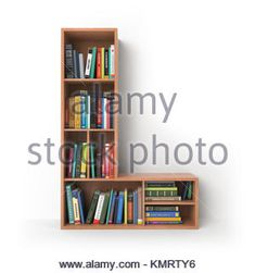 Letter H. Alphabet in the form of shelves with books isolated on Stock Photo, Royalty Free Image: 167710784 - Alamy Bedroom Bed Design, Room Interior Design, Home Decor Bedroom, Diy Home Decor, Creative Bookshelves, Bookshelf Design, Wall Shelves Design, Eco Furniture, Furniture Design