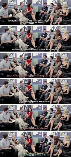 Jared, Lana, Rebecca, Colin, Josh, Jennifer and Emilie - SDCC 2016 -