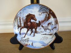 Horses Winter Horse Plate Royal Doulton Franklin Mint by panther85, $28.00