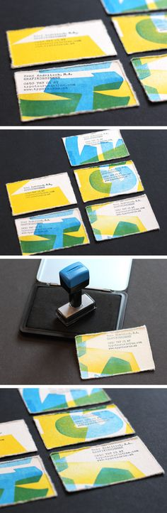 Letterpress business cards by René Andritsch