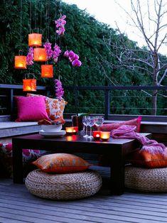 Small Balcony Decor, Balcony Design, Small Patio, Cozy Patio, Backyard Patio Designs, Backyard Ideas, Garden Ideas, Backyard Decorations, Backyard Projects