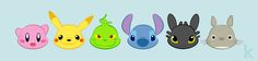 Fan Art Mashup by Karianne Hutchinson Illustration Vector Illustrator Adobe art Kirby Nintendo Pikachu Pokemon Grinch Dr. Seuss Stitch Disney Toothless Dreamworks Totoro Studio Ghibli Miyazaki fanart mash up