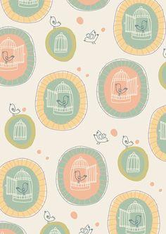 Patterns for wallpapers by little cube studio for children's design, via Behance