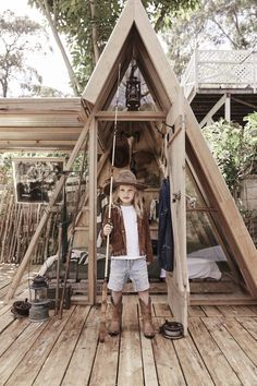 Kids Cubby Houses, Kids Cubbies, Play Houses, Build A Frame, A Frame Cabin, Lake Cabins, Cabins And Cottages, Playhouse Outdoor, Outdoor Play