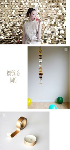 gold-foil-DIYs-for-wedding-so easy and would look so pretty