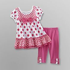 WonderKids Infant Girl's Dress & Leggings - Polka Dots - Baby - Baby & Toddler Clothing - Collections & Sets