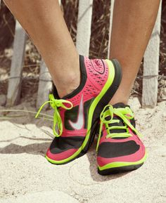 Nike Running Shoes Pink Black Neon Green Nikes-- need these too! 28afeff5d4ea