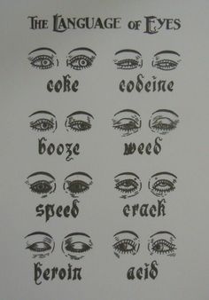Sober Advertising : Drug Addiction - The Language of Eyes - Infographic
