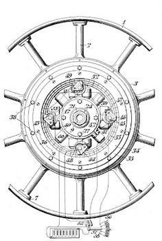 In 1910 C. Berg patented an ingenious automobile part. His ideas was to put an electric motor inside each wheel hub. Very ingenious for early automobiles.