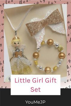 Perfect as a gift this necklace ,bracelet and bow set will bring a smile to the little Miss #kidsbirthdaygift #kidsjewelleryidea Best Baby Boy Gifts, Little Girl Gifts, Toddler Headbands, Baby Girl Headbands, Next Gifts, Gifts For Girls, Kids Purse, Unique Baby Shower Gifts, Girls Necklaces