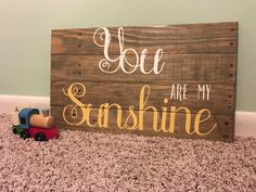 You Are My Sunshine Sign by NorthernPalletDesign on Etsy