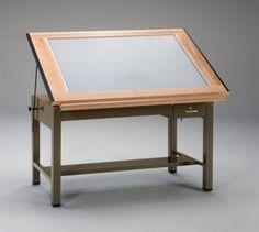 Mayline Ranger Steel Four-Post Drafting Light Table